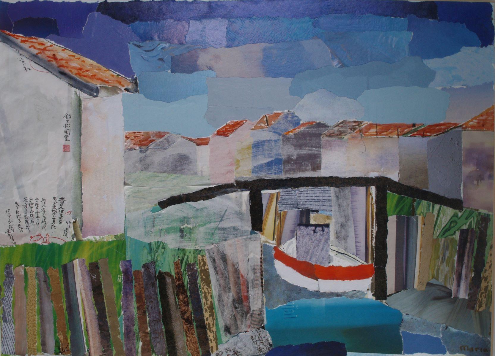 aquarel en collage